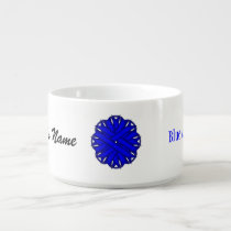 Blue Flower Ribbon by Kenneth Yoncich Bowl