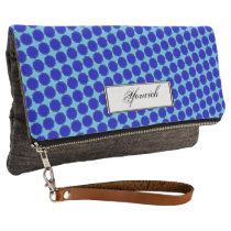 Blue Flower Ribbon by Kenneth Yoncich Clutch