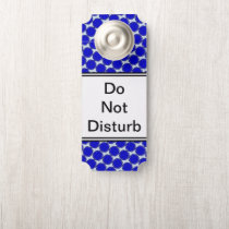 Blue Flower Ribbon by Kenneth Yoncich Door Hanger