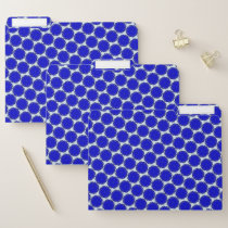 Blue Flower Ribbon by Kenneth Yoncich File Folder