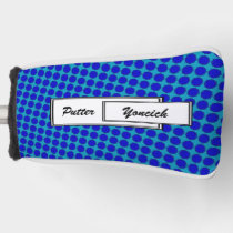 Blue Flower Ribbon by Kenneth Yoncich Golf Head Cover