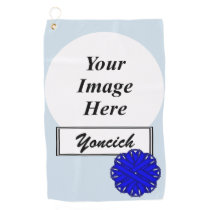 Blue Flower Ribbon by Kenneth Yoncich Golf Towel