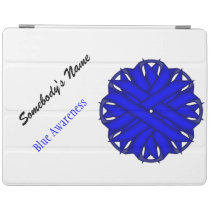 Blue Flower Ribbon by Kenneth Yoncich iPad Smart Cover