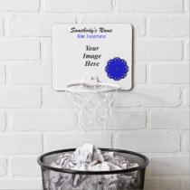 Blue Flower Ribbon by Kenneth Yoncich Mini Basketball Backboard