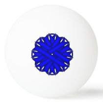 Blue Flower Ribbon by Kenneth Yoncich Ping Pong Ball