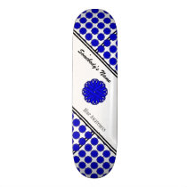 Blue Flower Ribbon by Kenneth Yoncich Skateboard