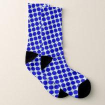 Blue Flower Ribbon by Kenneth Yoncich Socks