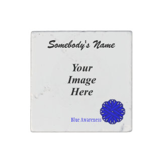 Blue Flower Ribbon by Kenneth Yoncich Stone Magnet
