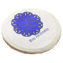 Blue Flower Ribbon by Kenneth Yoncich Sugar Cookie