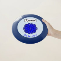 Blue Flower Ribbon by Kenneth Yoncich Wham-O Frisbee