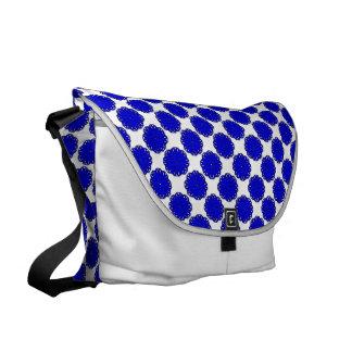 Blue Flower Ribbon Courier Bags
