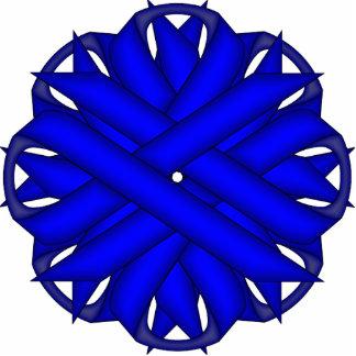 Blue Flower Ribbon Cutout
