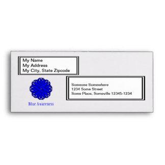 Blue Flower Ribbon Envelope