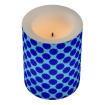 Blue Flower Ribbon Flameless Candle