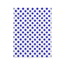 Blue Flower Ribbon Fleece Blanket