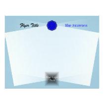 Blue Flower Ribbon Flyer