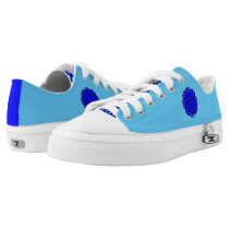 Blue Flower Ribbon Low-Top Sneakers