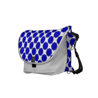 Blue Flower Ribbon Messenger Bag