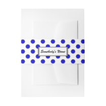 Blue Flower Ribbon (Pers) Invitation Belly Band