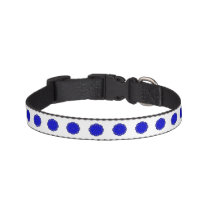 Blue Flower Ribbon Pet Collar