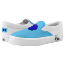 Blue Flower Ribbon Slip-On Sneakers