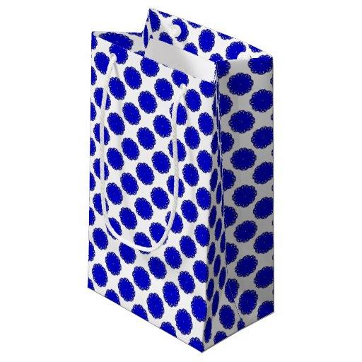 Blue Flower Ribbon Small Gift Bag | Zazzle