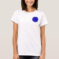 Blue Flower Ribbon T-Shirt