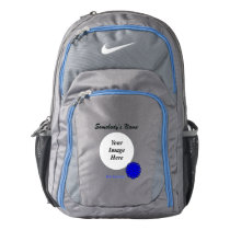 Blue Flower Ribbon Template Backpack