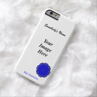 Blue Flower Ribbon Template Barely There iPhone 6 Case