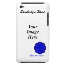 Blue Flower Ribbon Template Barely There iPod Case