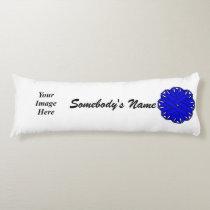 Blue Flower Ribbon Template Body Pillow