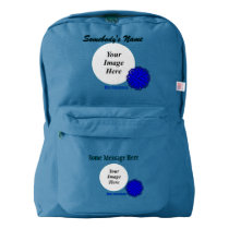 Blue Flower Ribbon Template by Kenneth Yoncich American Apparel™ Backpack