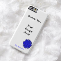 Blue Flower Ribbon Template by Kenneth Yoncich Barely There iPhone 6 Case