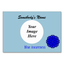 Blue Flower Ribbon Template by Kenneth Yoncich Card