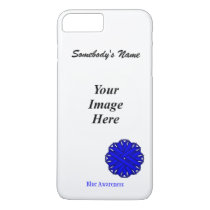 Blue Flower Ribbon Template by Kenneth Yoncich iPhone 8 Plus/7 Plus Case