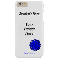 Blue Flower Ribbon Template by Kenneth Yoncich Barely There iPhone 6 Plus Case