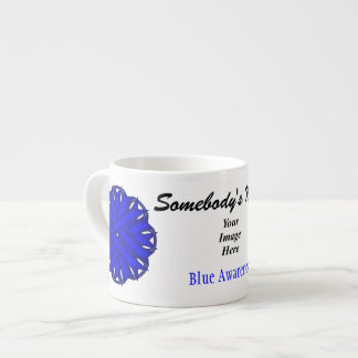 Blue Flower Ribbon Template by Kenneth Yoncich Espresso Cup