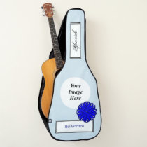 Blue Flower Ribbon Template by Kenneth Yoncich Guitar Case