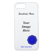 Blue Flower Ribbon Template by Kenneth Yoncich iPhone 8/7 Case