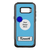 Blue Flower Ribbon Template by Kenneth Yoncich OtterBox Commuter Samsung Galaxy S8  Case