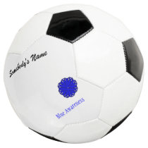 Blue Flower Ribbon Template by Kenneth Yoncich Soccer Ball