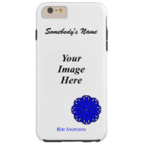 Blue Flower Ribbon Template by Kenneth Yoncich Tough iPhone 6 Plus Case