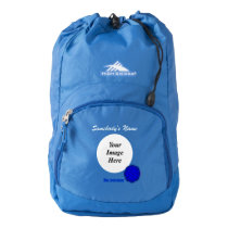Blue Flower Ribbon Template High Sierra Backpack