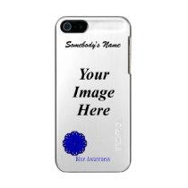 Blue Flower Ribbon Template Metallic iPhone SE/5/5s Case
