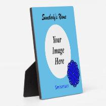 Blue Flower Ribbon Template Plaque