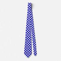 Blue Flower Ribbon Tie
