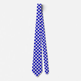 Blue Flower Ribbon Tie