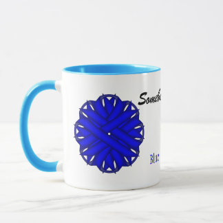 Blue Flower Ribbon Tmpl by Kenneth Yoncich Mug
