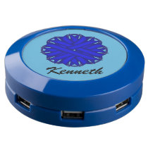 Blue Flower Ribbon USB Charging Station