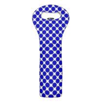 Blue Flower Ribbon Wine Bag